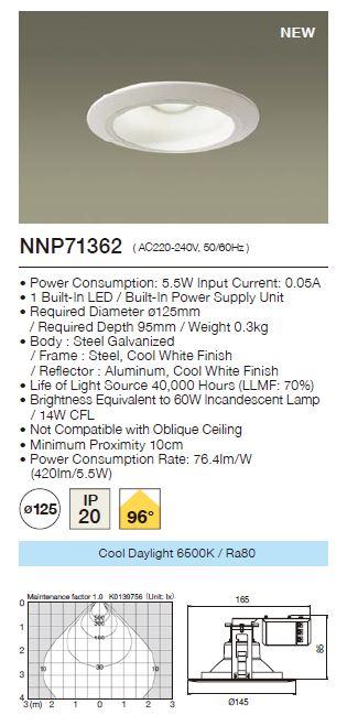 Panasonic LED Downlight  NNP71362