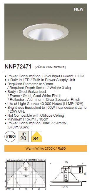 Panasonic LED Downlight  NNP72471